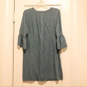 Zara Soft Denim Dress, Size Small